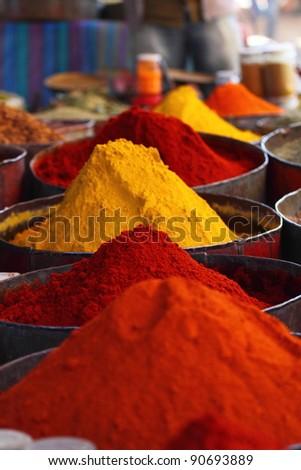 Morocco Traditional Market - stock photo