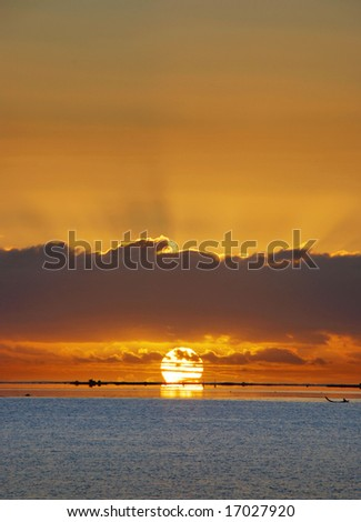 Moroea Sunset - stock photo