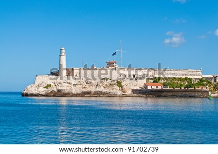 Morro Castle in Havana Bay, Cuba on a summer day