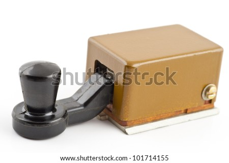 Morse code key on a white background - stock photo