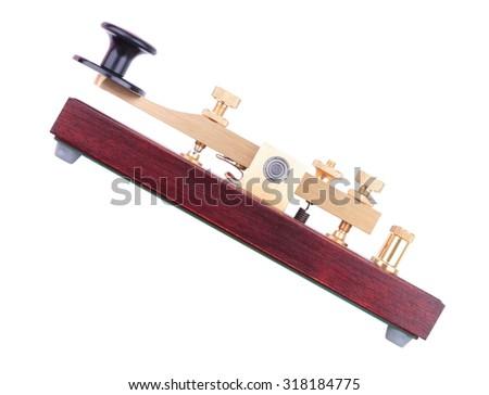 Morse Key Isolated - stock photo
