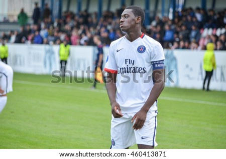 MORSHUN, UKRAINE - SEP 30: Doucoure Mamadou in action during the UEFA Youth Champions League match between Shakhtar vs Paris Saint-Germain (PSG) (U19), 30 September 2015, Ukraine
