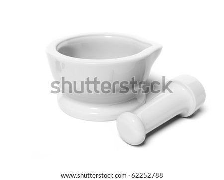 Mortar and pestle - stock photo