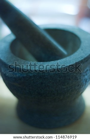 Mortar and Pestle for Kitchen and Medical Preparation
