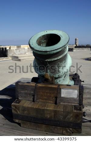 Mortar Cannon in Castillo San Marco - stock photo