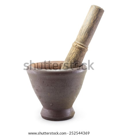 Mortar & Pestle Isolated with white background
