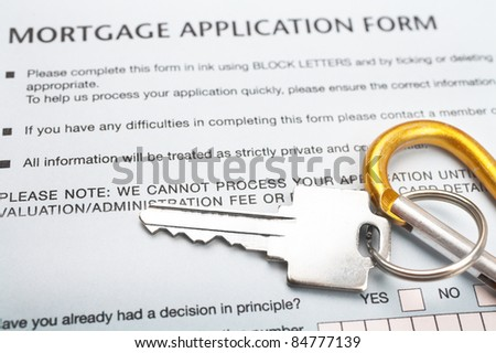 Mortgage Application - stock photo