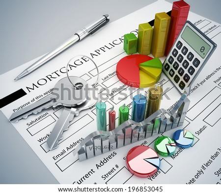 Mortgage Application concept - stock photo