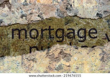 Mortgage concept - stock photo