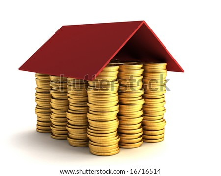 mortgage concept 3d rendering - stock photo
