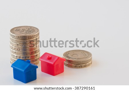 Mortgage concept saving for a house deposit - stock photo