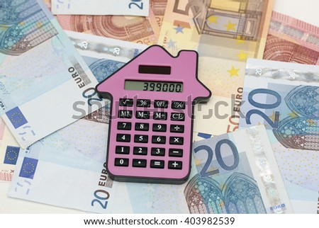 Mortgage costs  - stock photo