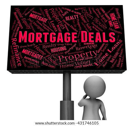Mortgage Deals Representing Real Estate And Homes 3d Rendering - stock photo