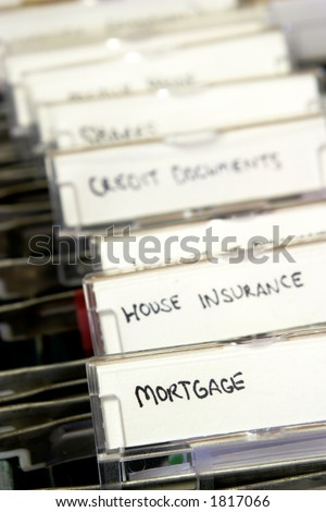 Mortgage documents - stock photo