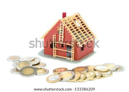 Mortgage for new house - stock photo