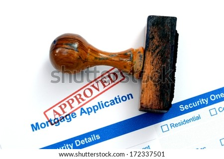 Mortgage form - approved - stock photo