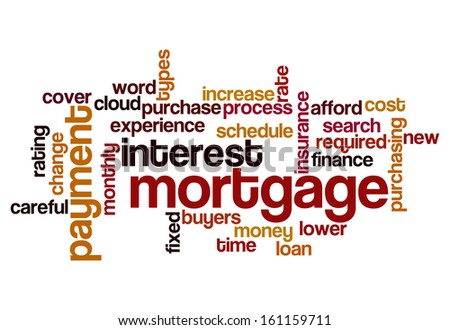 mortgage interest payment concept word cloud on white