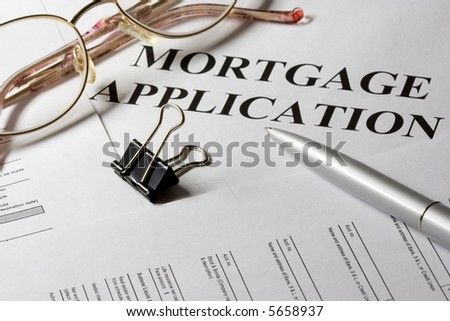 Mortgage loan application form and notebook macro