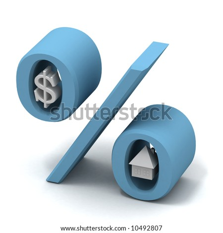 mortgage payment - stock photo