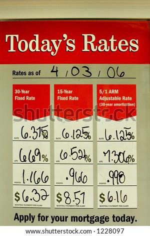 Mortgage rates - stock photo