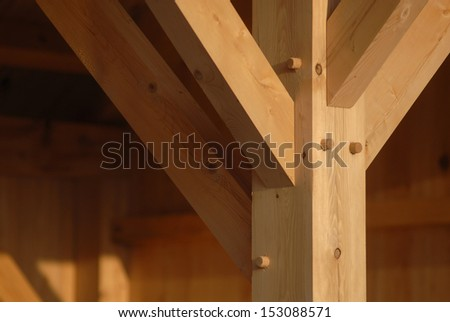 Mortise and tenon - stock photo