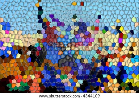 Mosaic abstract background - stock photo
