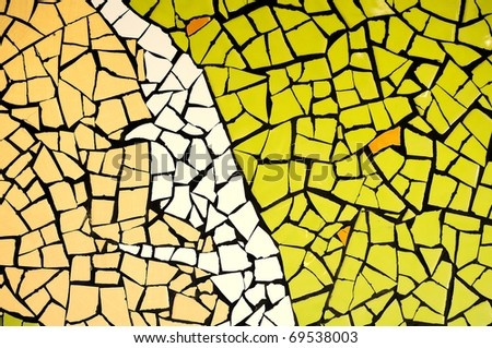 Mosaic abstract green theme - stock photo