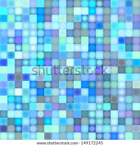 mosaic backdrop in multiple blue - stock photo