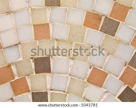 Mosaic detail - stock photo
