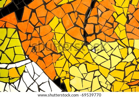 Mosaic glossy abstract Warm theme