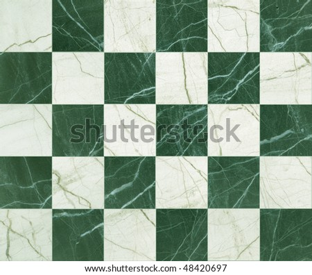 mosaic green marble - stock photo
