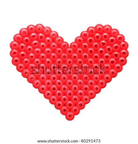 mosaic heart - stock photo