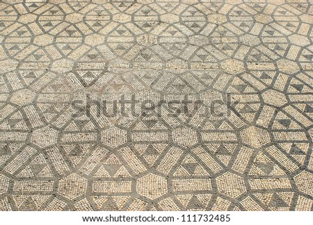 Mosaic in the Roman ruins of Conimbriga