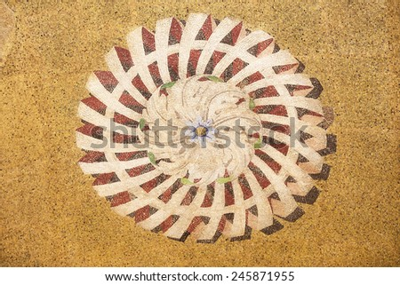 Mosaic ornament from facade of St. Mark's Basilica in Venice, Italy - stock photo