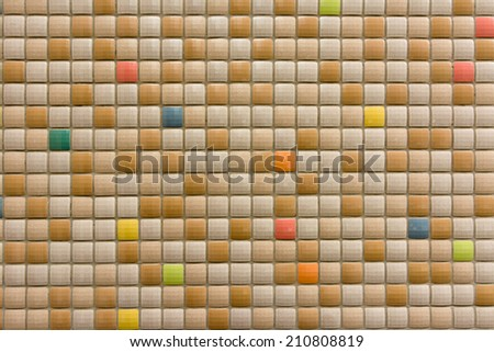 Mosaic texture background in outside. - stock photo