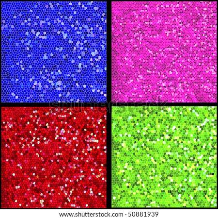 mosaic tile backgrounds - stock photo