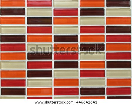 mosaic tile in bathroom interior - stock photo