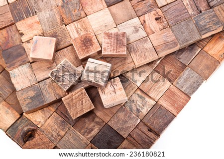 Mosaic tiles assembled hardwood - stock photo