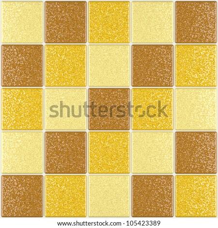 Mosaic tiles brown - stock photo