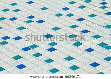 mosaic tiles on a wall - stock photo