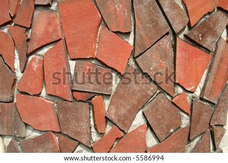 Mosaic tiles on wall - stock photo
