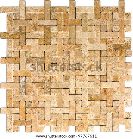 mosaic tiles texture isolated on white background - stock photo