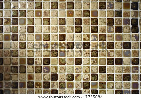 Mosaic wall background - stock photo