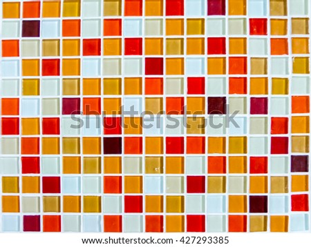 mosaic wall tile lava hot tone color closeup