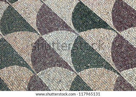 Mosaics on the floor, Baths of Caracalla, Rome, Italy - stock photo