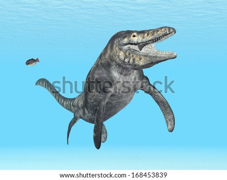 Mosasaur Tylosaurus Computer generated 3D illustration - stock photo