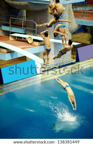 High diving board stock images royalty free images vectors shutterstock for Swimming pool diving board tricks