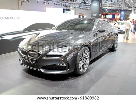 MOSCOW - AUG 26: BMW Gran Coupe at Moscow international motor show 2010 on August 26, 2010 in Moscow, Russia.