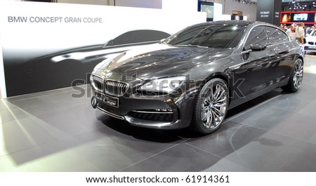 MOSCOW - AUG 26:BMW Gran Coupe at Moscow international motor show 2010 on August 26, 2010 in Moscow, Russia. - stock photo