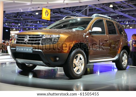MOSCOW - AUG 29: Renault duster, Moscow international motor show 2010 on August 29, 2010 in Moscow, Russia